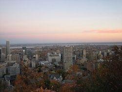 Aussicht vom Mont Royal über die Stadt Montréal