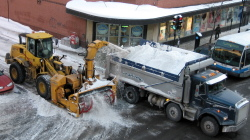 Camion de déneigement �  Montréal