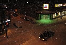 Tempête de neige �  Montréal