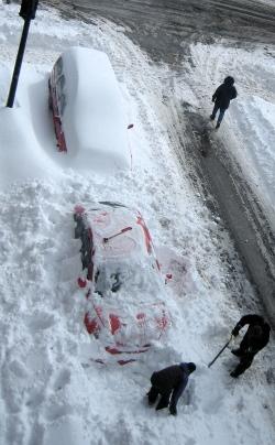 Sortir la voiture de la neige